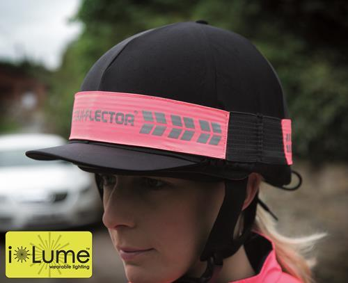 Equi-Flector Flashing Hat Band With Reflective Branding - Pink