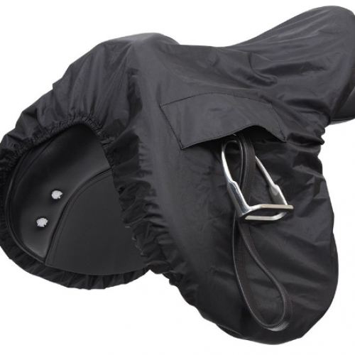 Shires Waterproof Ride on Saddle Cover - Black