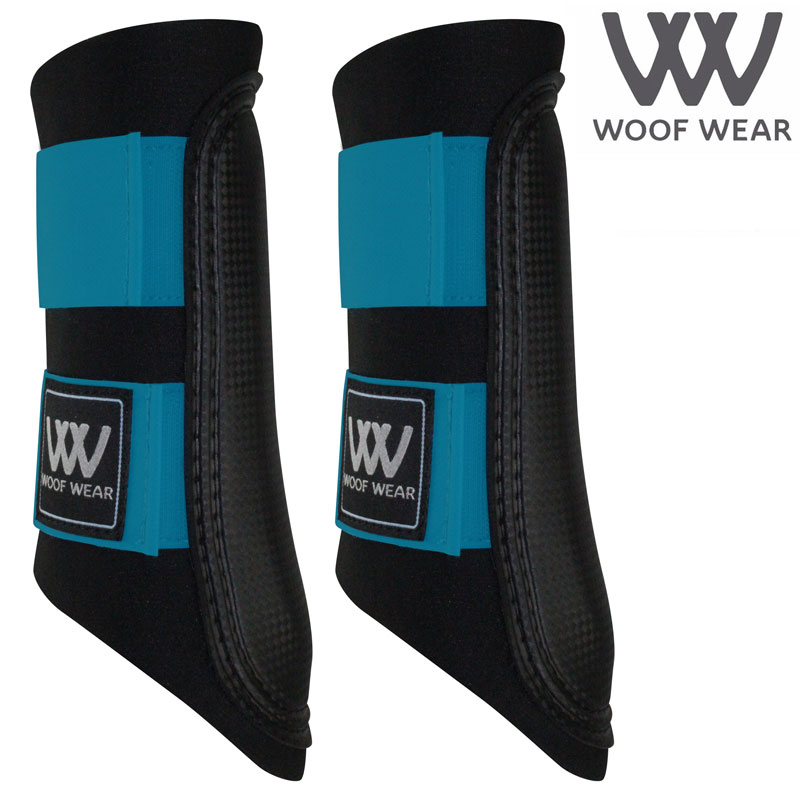 Woof Wear Colour Fusion Club Brushing Boots - Turquoise