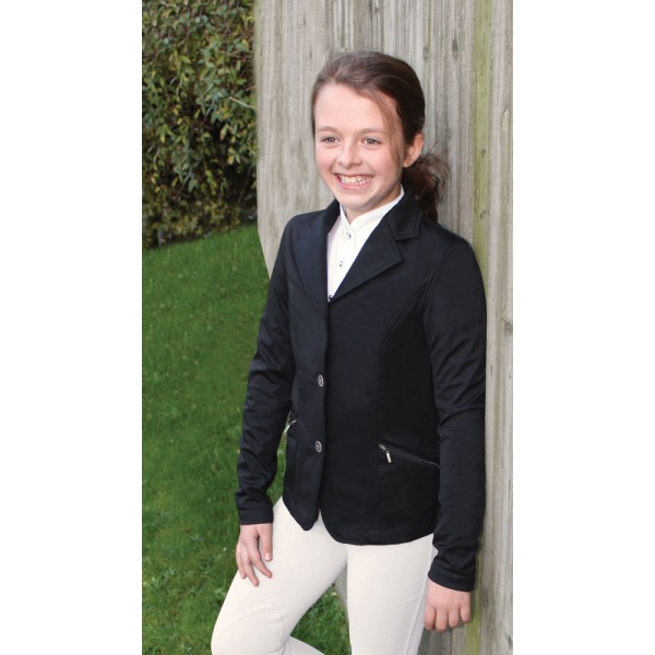 Equetech Ellipse Junior Softshell Competition Jacket - Black