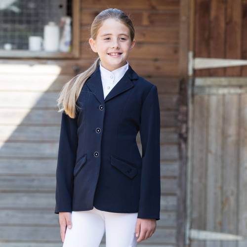 Equetech Triumph  Junior Show Jacket - Navy - 32