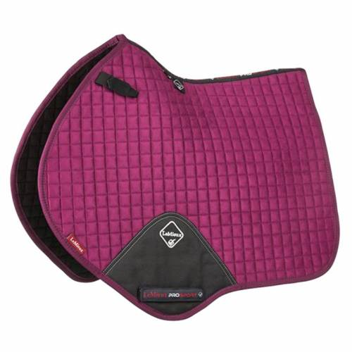 LeMieux ProSport Suede Close Contact Square - Plum