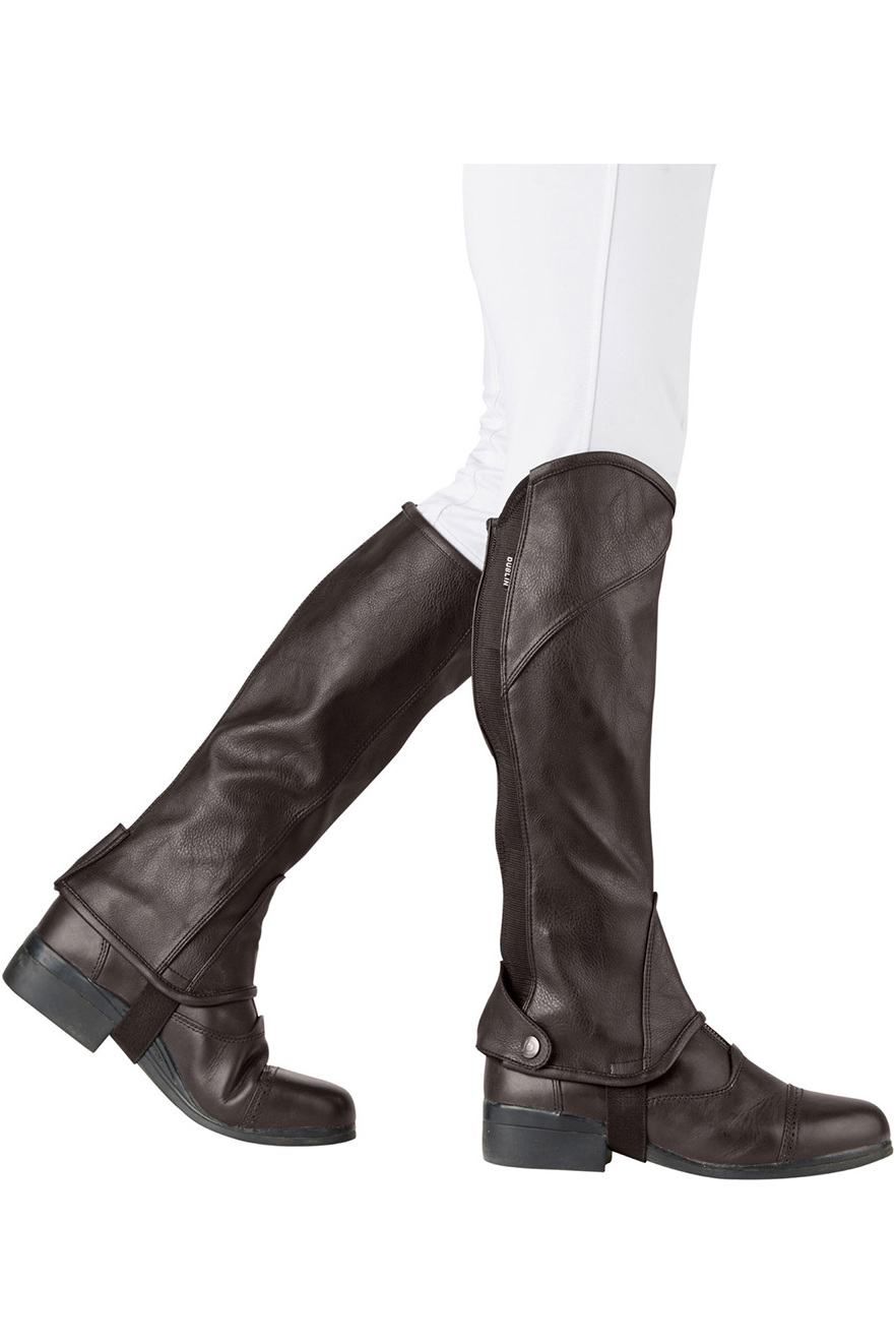Dublin Stretch Fit Half Chaps - Brown