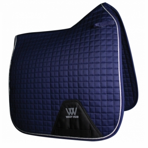 Woof Wear Contour Dressage Saddle Cloth - Navy Blue