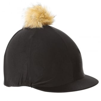 Shires Pom Pom Hat Cover - Black