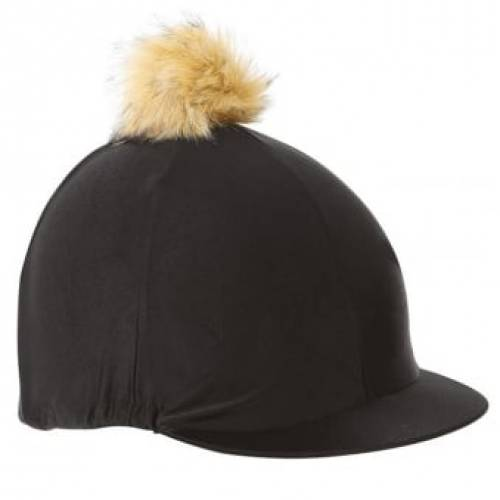Pom Pom Hat Cover - Black