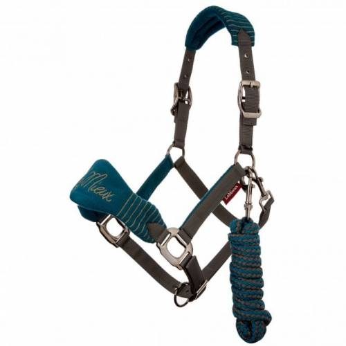 LeMieux Vogue Fleece Headcollar & Leadrope - Peacock