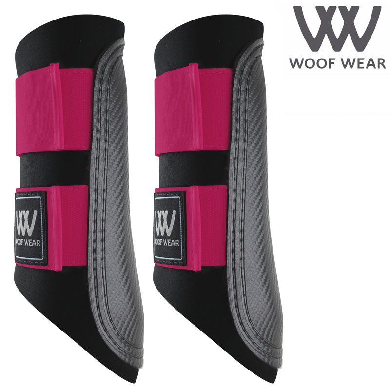 Woof Wear Colour Fusion Club Brushing Boots - Berry