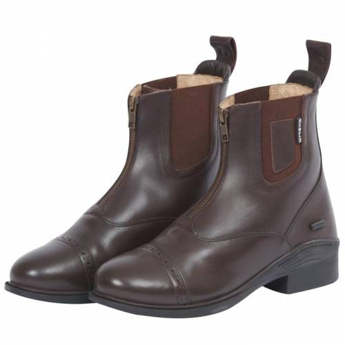 Evolution Zip Front Paddock Boot - Adults - Brown