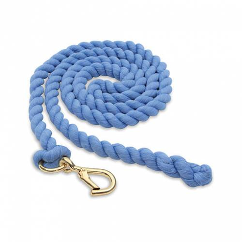 Shires Plain Headcollar Lead Rope - Baby Bue