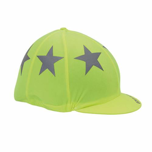 Equi-Flector Hi Viz Hat Cover With Stars - Yellow