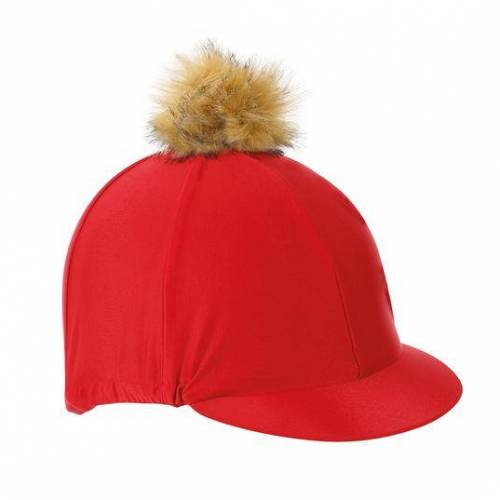 Shires Pom Pom Hat Silk - Red