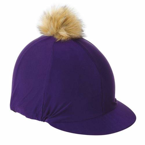 Shires Pom Pom Hat Silk - Purple