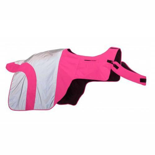 Equisafety Mercury Hi Viz Waterproof Exercise Sheet - Pink