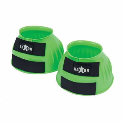 Saxon Double Tape PVC Ribbed Bell Boot - Lime Green