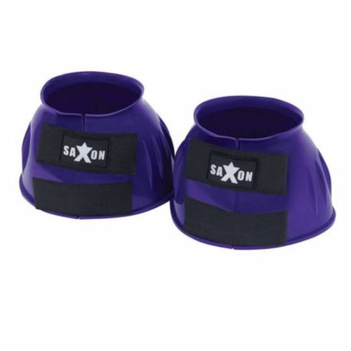 Saxon Double Tape PVC Ribbed Bell Boot - Purple