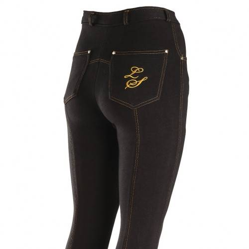 Legacy Contrast Junior Jodphurs - Black/Gold