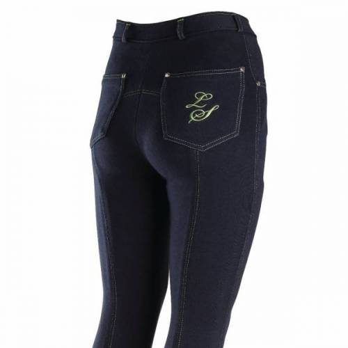 Contrast Junior Jodphurs - Navy/Green