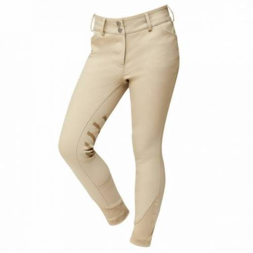 Dublin Prime Gel Knee Patch Childs Breeches - Beige