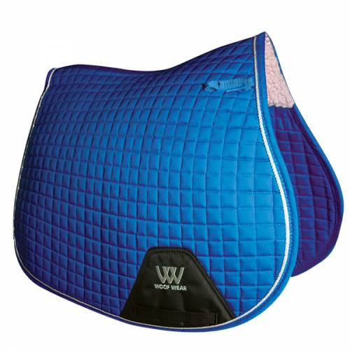 Woof Wear Contour General Purpose Saddle Cloth - Electric Blue image
