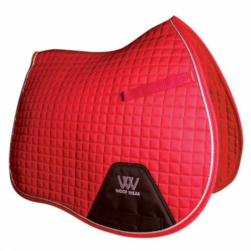 Woof Wear Contour General Purpose Saddle Cloth - Royal Red