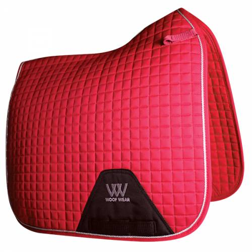 Woof Wear Contour Dressage Saddle Cloth - Royal Red