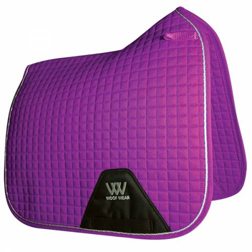 Woof Wear Contour Dressage Saddle Cloth - Ultraviolet Purple - Full