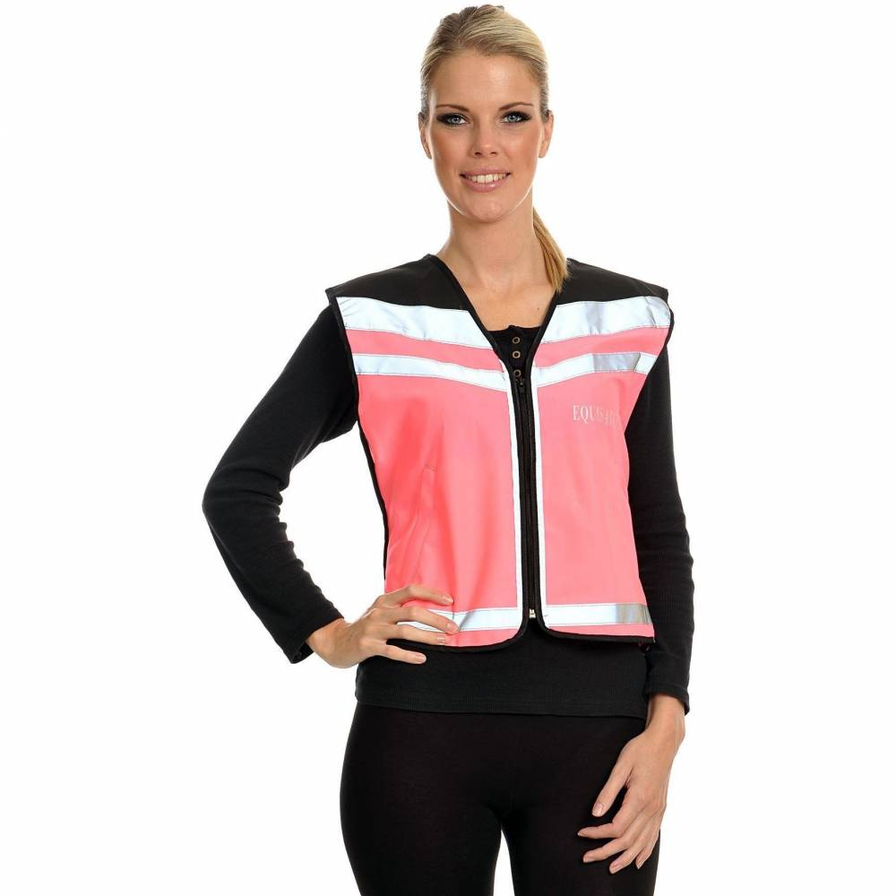 Equisafety Air Waistcoat - Pink (Plain Back) - Small