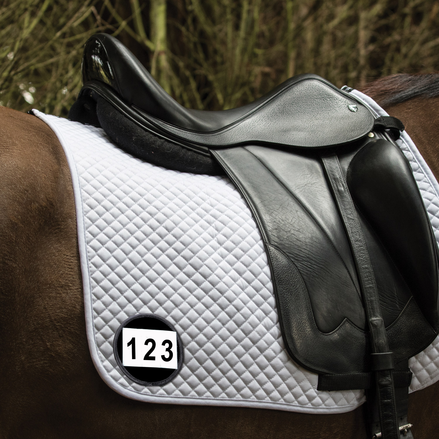 Equetech Competition Numbers - Saddle Pad - Pair