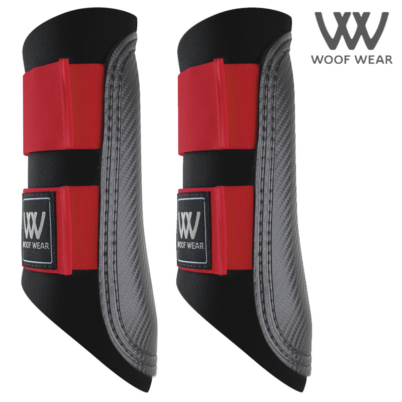Woof Wear Colour Fusion Club Brushing Boots - Royal Red