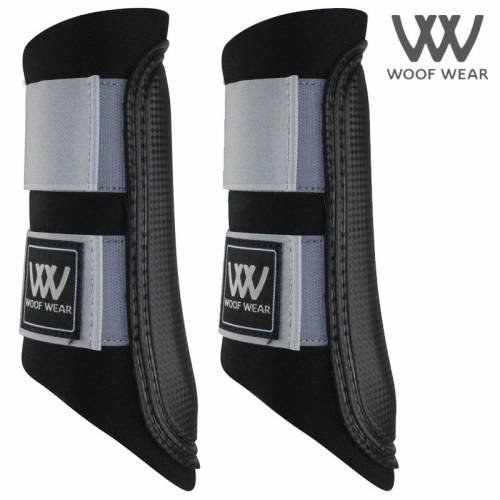 Woof Wear Colour Fusion Club Brushing Boots - Brushed Steel Grey