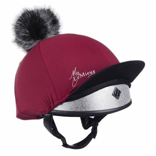 LeMieux Pom Pom Hat Cover - Mulberry
