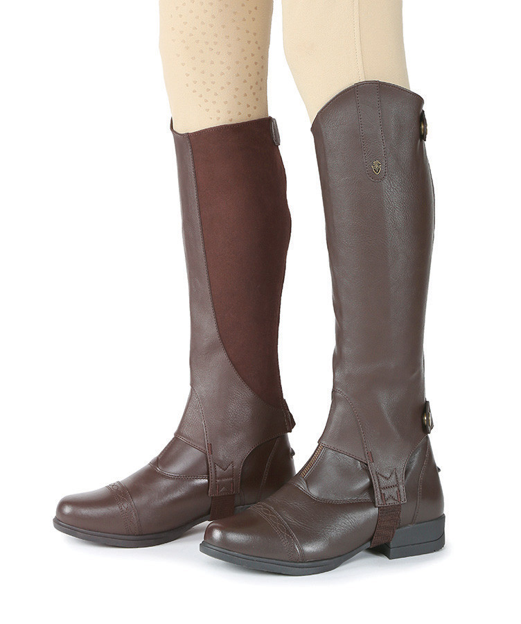 Shires Moretta Synthetic Gaiters - Brown
