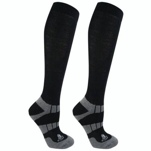 Woof Wear Winter Riding Socks - Black/Grey