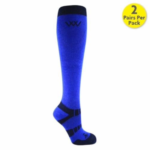 Woof Wear Bamboo Long Riding Socks - Electric Blue