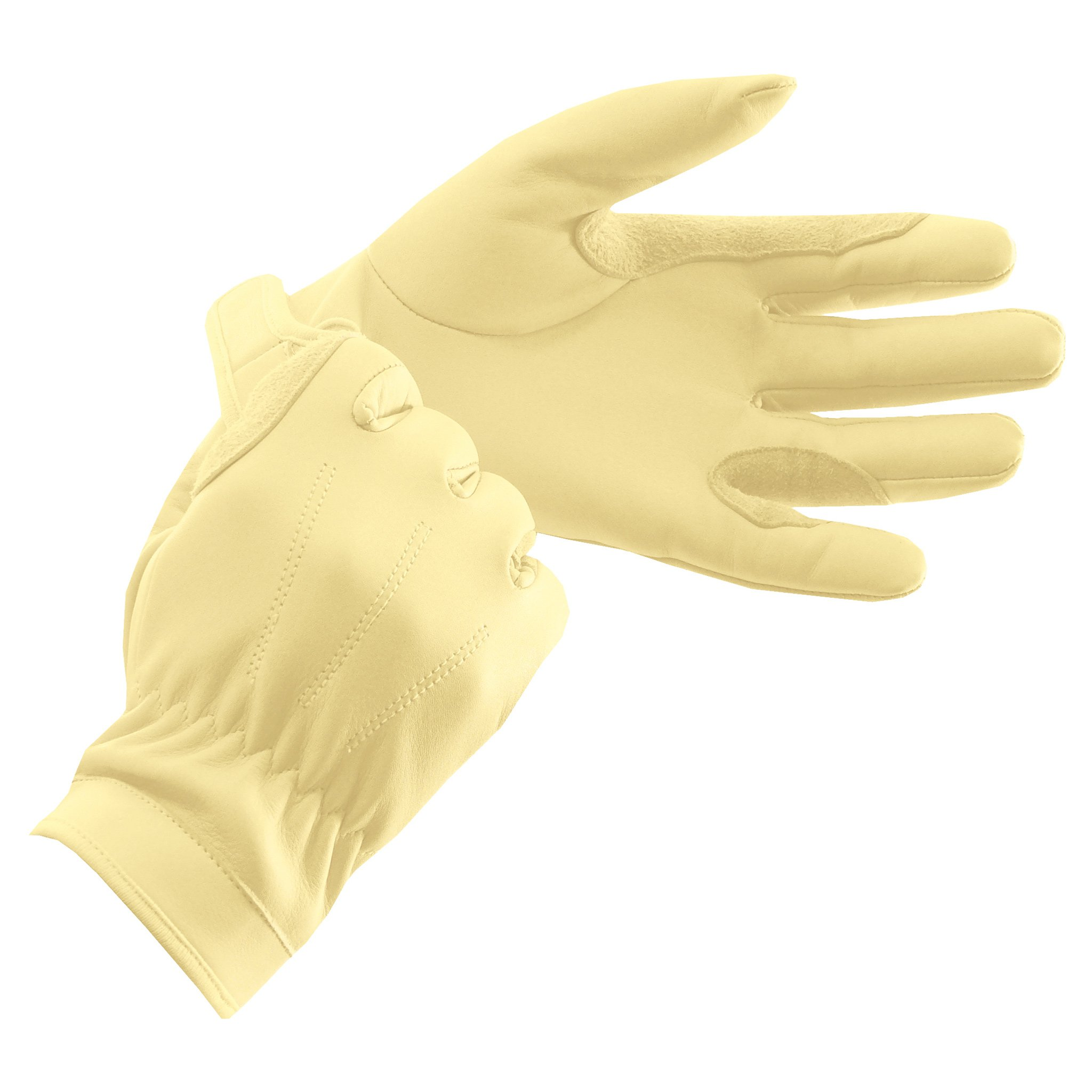 Equetech Junior Leather Show Gloves - Corn