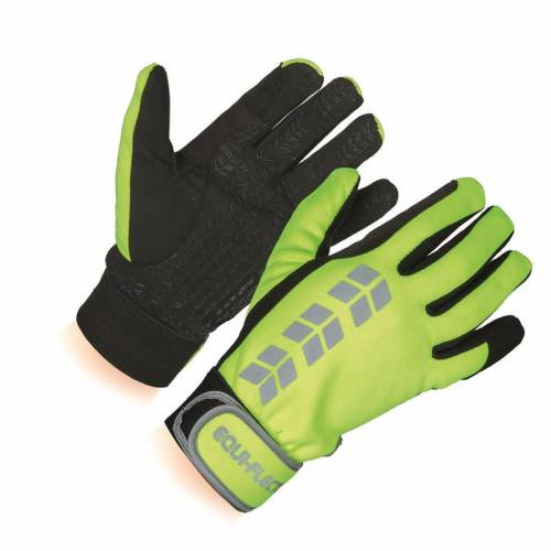 Equi-Flector Hi Viz Gloves - Yellow