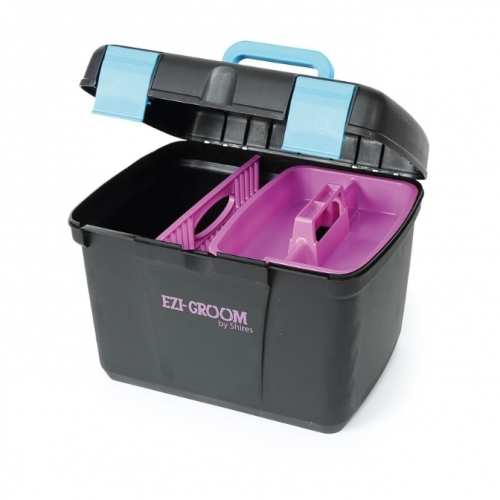 Shires Ezi-Groom Deluxe Grooming Box - Black image