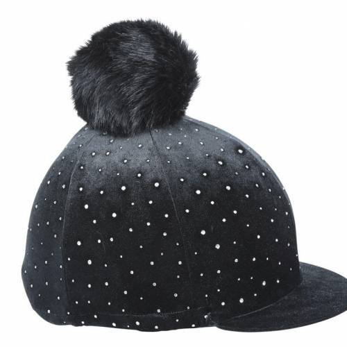 Shires Velvet Sparkle Hat Cover - Black
