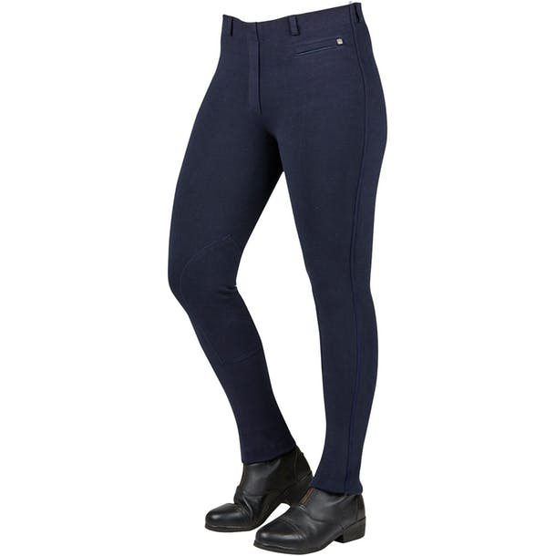 Dublin Momentum Knee Patch Pull On Jodhpurs - Child Navy