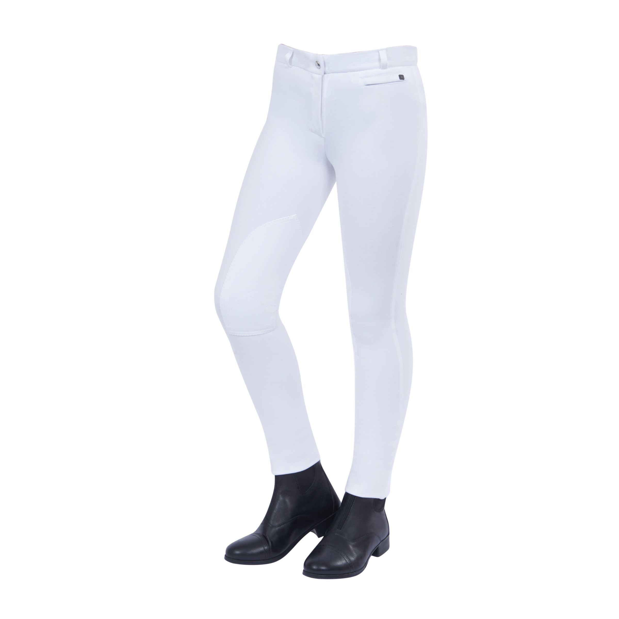 Dublin Momentum Supa-Fit Childs Knee Patch Zip Up  Jodhpurs - White
