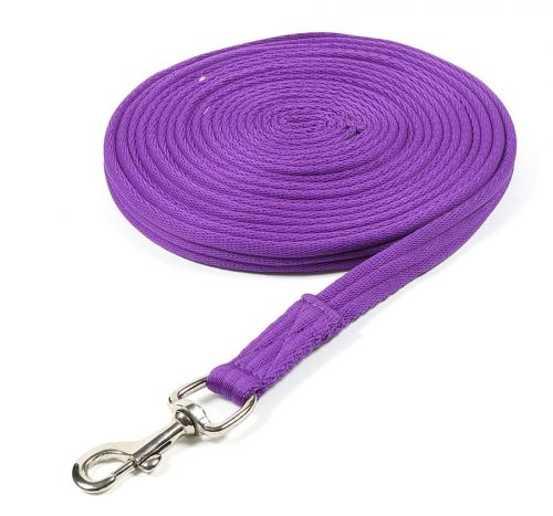 Shires Cushion Lunge Line - Purple