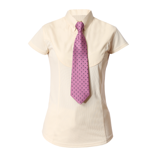 Equetech Waffle Capped Show Shirt - Canary