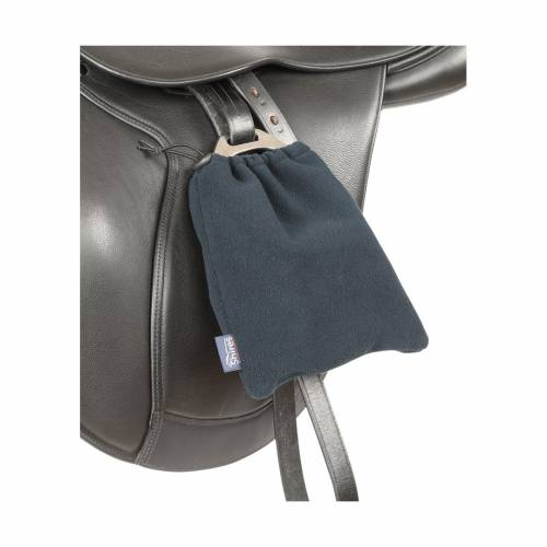 Shires Fleece Stirrup Covers - Navy