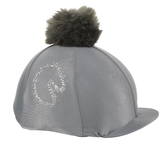 Shires Sparkle Horse Hat Cover - Grey