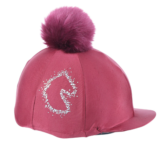 Shires Sparkle Horse Hat Cover - Maroon