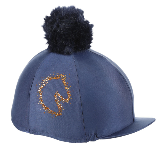 Shires Sparkle Horse Hat Cover - Navy