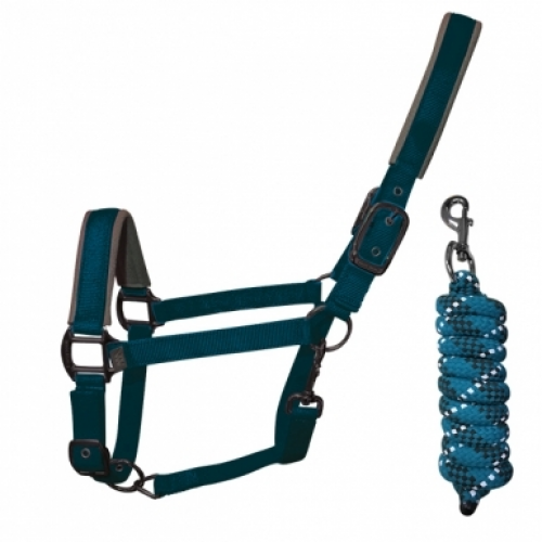 Woof Wear Contour Headcollar and Lead Rope Set - Ocean