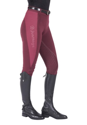 Just Togs Just Tights Riding Tights - Wine