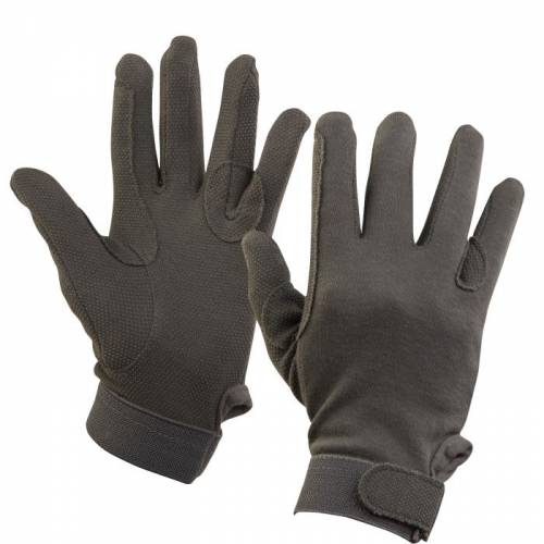 Dublin Track Riding Gloves - Grey